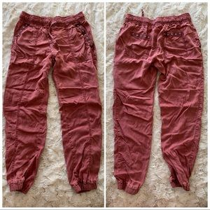 Cloth & Stone x Anthropologie Red Studded Joggers